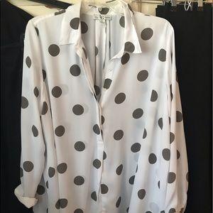 Very pretty pokadot loose blouse